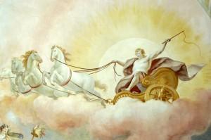 A Tüzes, Szikrázó, Égő és Koránkelő vontatta tűzszekér